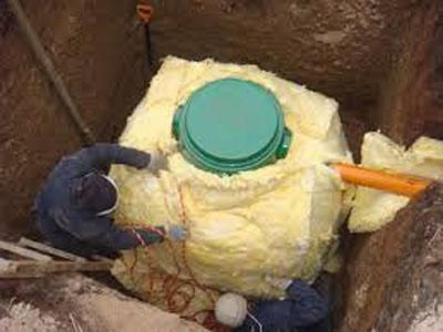 монтаж канализационной емкости