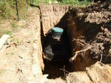 Где лучше установить емкость для канализации