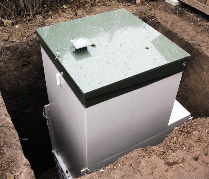 Автономная канализация Топас, расположенная в яме