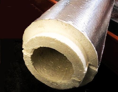 Не забудьте обмотать трубу теплоизоляцией (верхний слой)