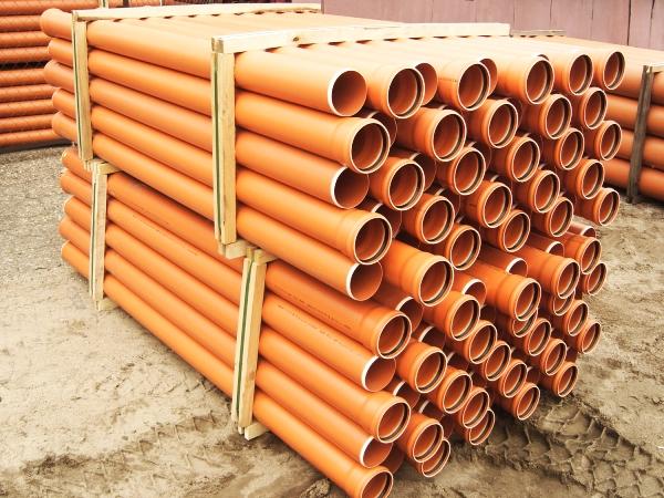 трубы пвх для наружной канализации оранжевые