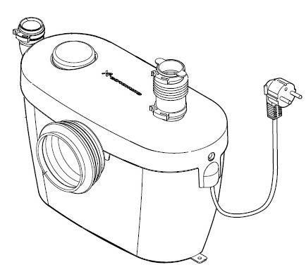 Фото: насос измельчитель для принудительной канализации (сололифт)
