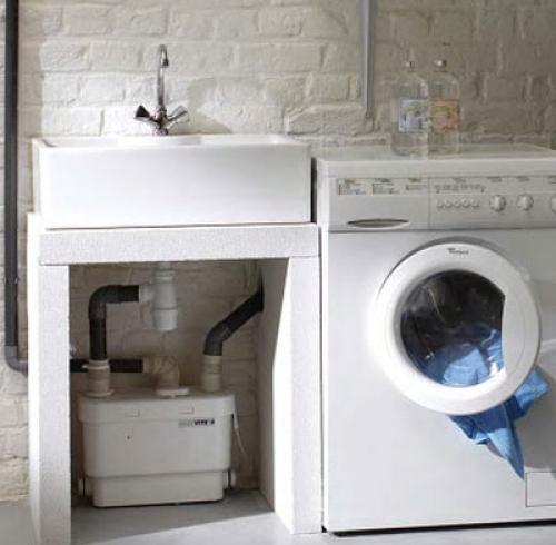 сололифт подключен к стиральной машине и раковине