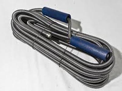 Фото: пружинно-витой трос для прочистки канализации