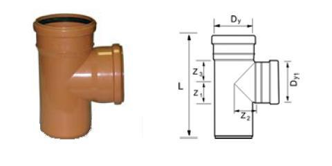 Тройник для труб ПВХ и определение его размеров