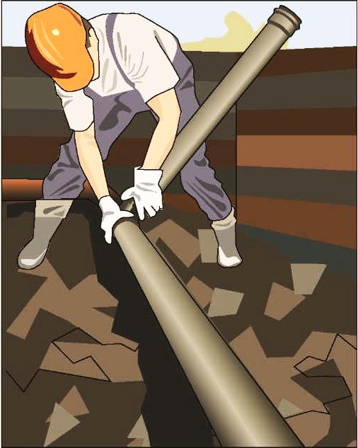 Процесс укладки труб в траншею своими руками