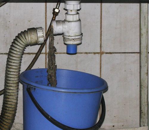 Засор в канализации