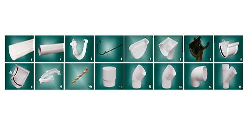 Элементы водосточной системы Мурол