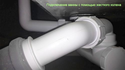 Подключение ванны к канализации трубы