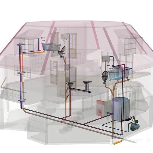 Проект водопровода и канализации частного дома