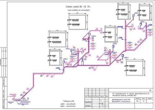 Проект водопровода и канализации частного дома2