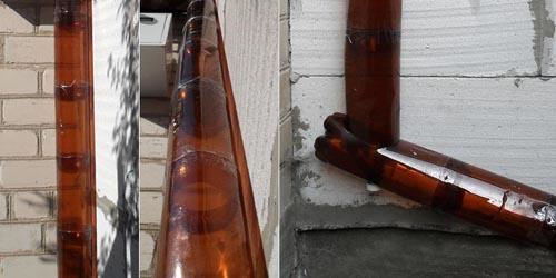 Трубы из пласт бутылок
